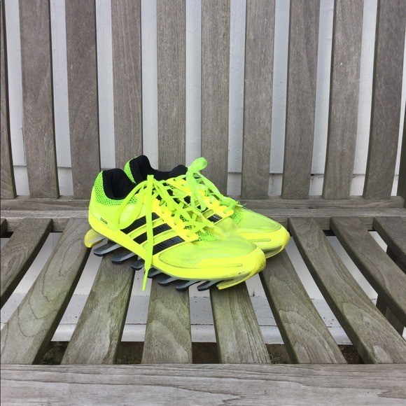 70bde7a38f14 adidas Other - ADIDAS Springblade neon yellow running shoes 5 1 2